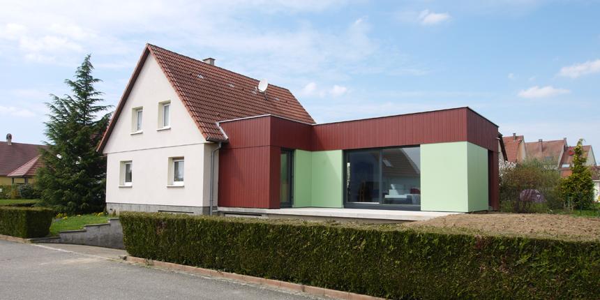 extension maison g schwindratzheim s bastien kaufenstein architecte ind pendant dplg. Black Bedroom Furniture Sets. Home Design Ideas