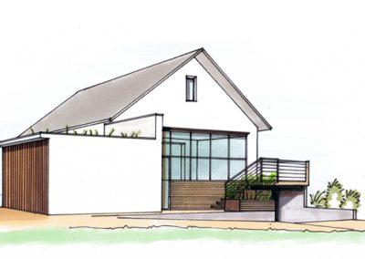 Création d'un garage et modification d'une terrasse à Brumath