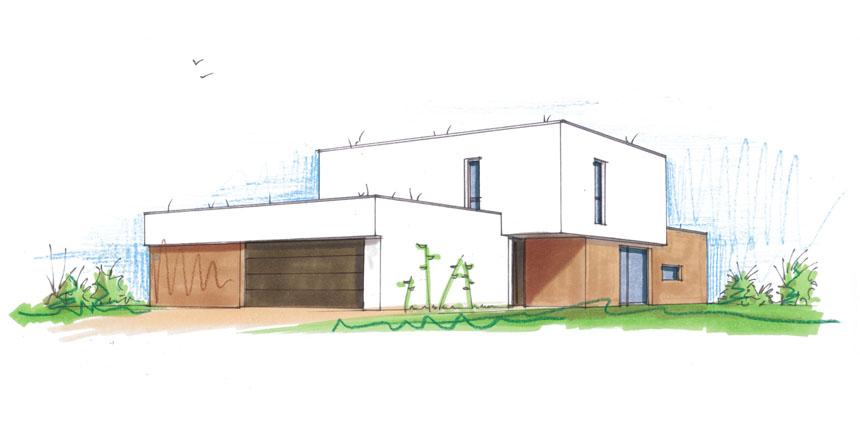 2017 – Construction d'une maison à Botans (mission esquisse)