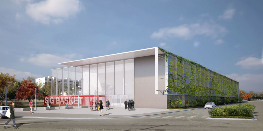 Construction d'un gymnase à Illkirch-Graffenstaden